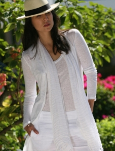 Wearing white AND linen - you know it's a rare skill, don't you?